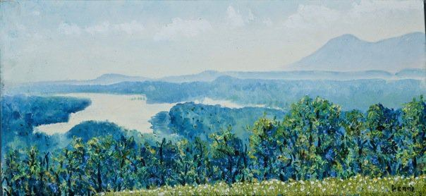 above the hudson. (1 'x 2.5')  $500