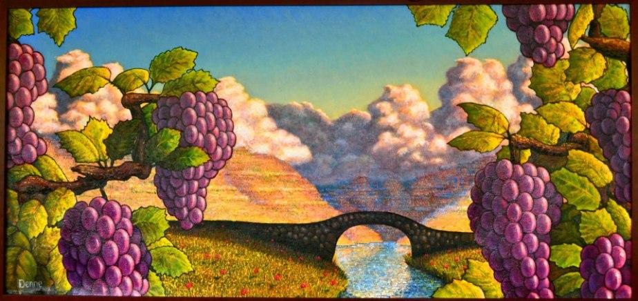 on the vine ( 2.5' x 5.5' ) $3,500
