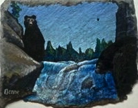 small painting on slate