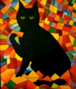 large cat (3.5'x4.5')