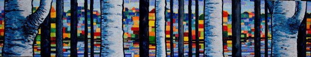 "birches askew 14"" x 60"" $2500"