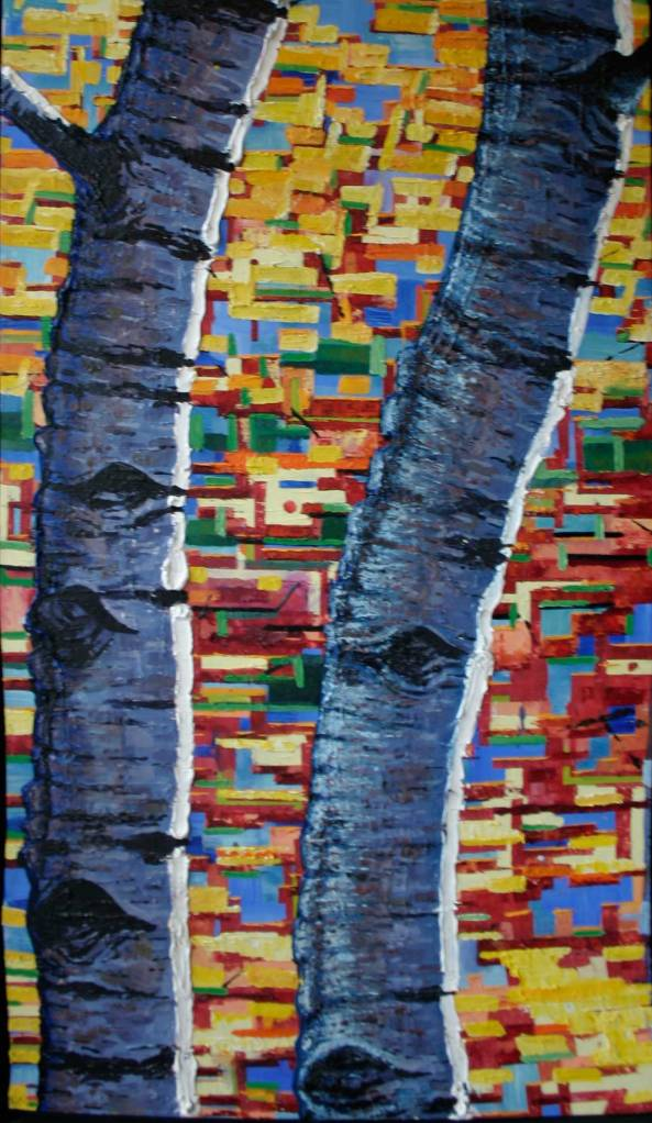 "the birches ( 36"" x 48"" ) na"